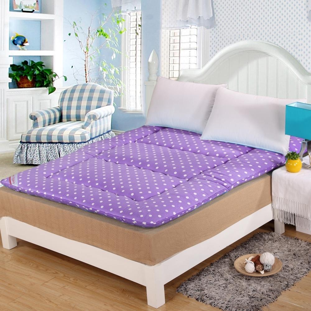 涼感精梳棉日式收納床墊 - 雙人
