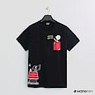 Hang Ten - 男裝 - Charlie Brown-俏皮圖樣短T-黑