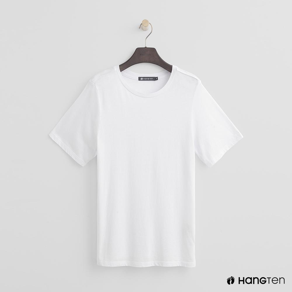 Hang Ten - 女裝 - 合身圓領素面T恤 - 白