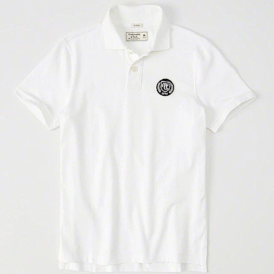 AF a&f Abercrombie & Fitch POLO 白色 0823