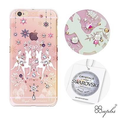 apbs iPhone6s/6 Plus 5.5吋施華洛世奇彩鑽手機殼-斑比透粉