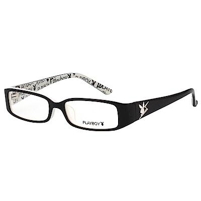 PLAYBOY-時尚光學眼鏡-黑色-PB85039