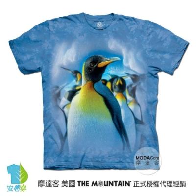 摩達客-美國進口The Mountain 歡樂天堂企鵝群 兒童版純棉環保藝術中性短袖T恤