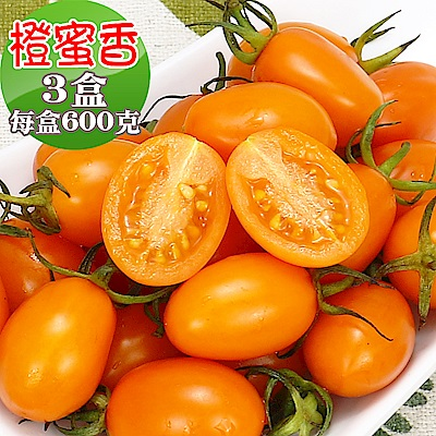 愛蜜果 橙蜜香小番茄3盒(600克/盒)
