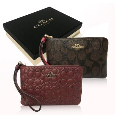 【情人節限定】COACH 經典C LOGO 手拿包禮盒(多色選)