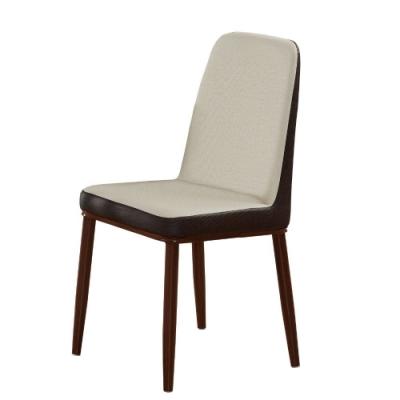 MUNA 翔遠米色皮餐椅/休閒椅 45X53.5X76cm