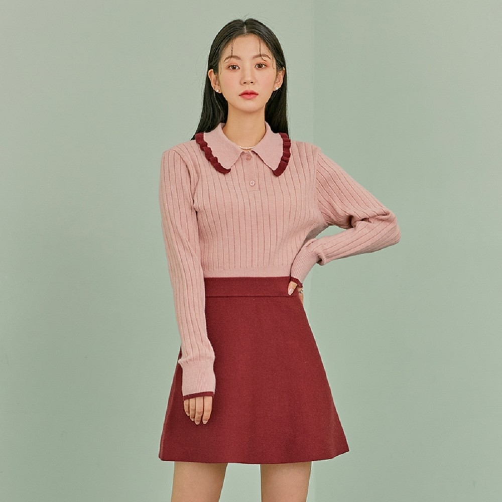 套裝 優雅氣質針織衫短裙套裝RO1164-創翊韓都