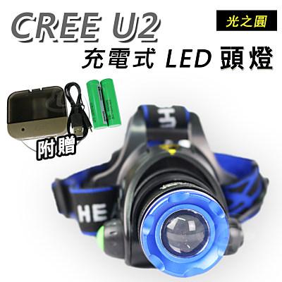 Light RoundI光之圓 CREE U2 LED 充電式頭燈CY-LR1560