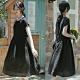 高端極細砂洗肌理絲麻小黑裙薄棉麻洋裝-設計所在 product thumbnail 1