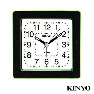 KINYO時尚方型靜音掃描鬧鐘TB715