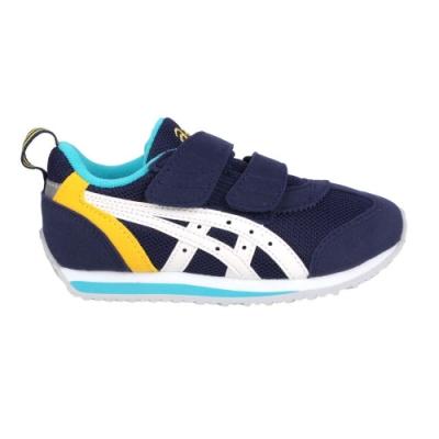 ASICS IDAHO MINI 3 男女小童運動鞋-慢跑 路跑 亞瑟士 TUM186-5001 丈青黃白