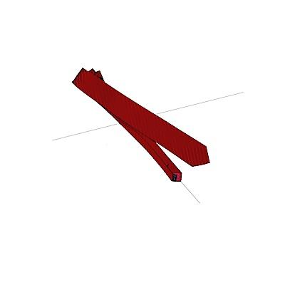 拉福   領帶8cm寬版領帶拉鍊領帶 (兒童亮絲)