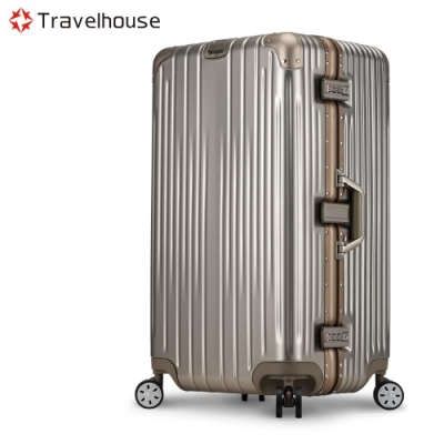 Travelhouse尊爵典藏II 29吋運動款鋁框行李箱香檳金