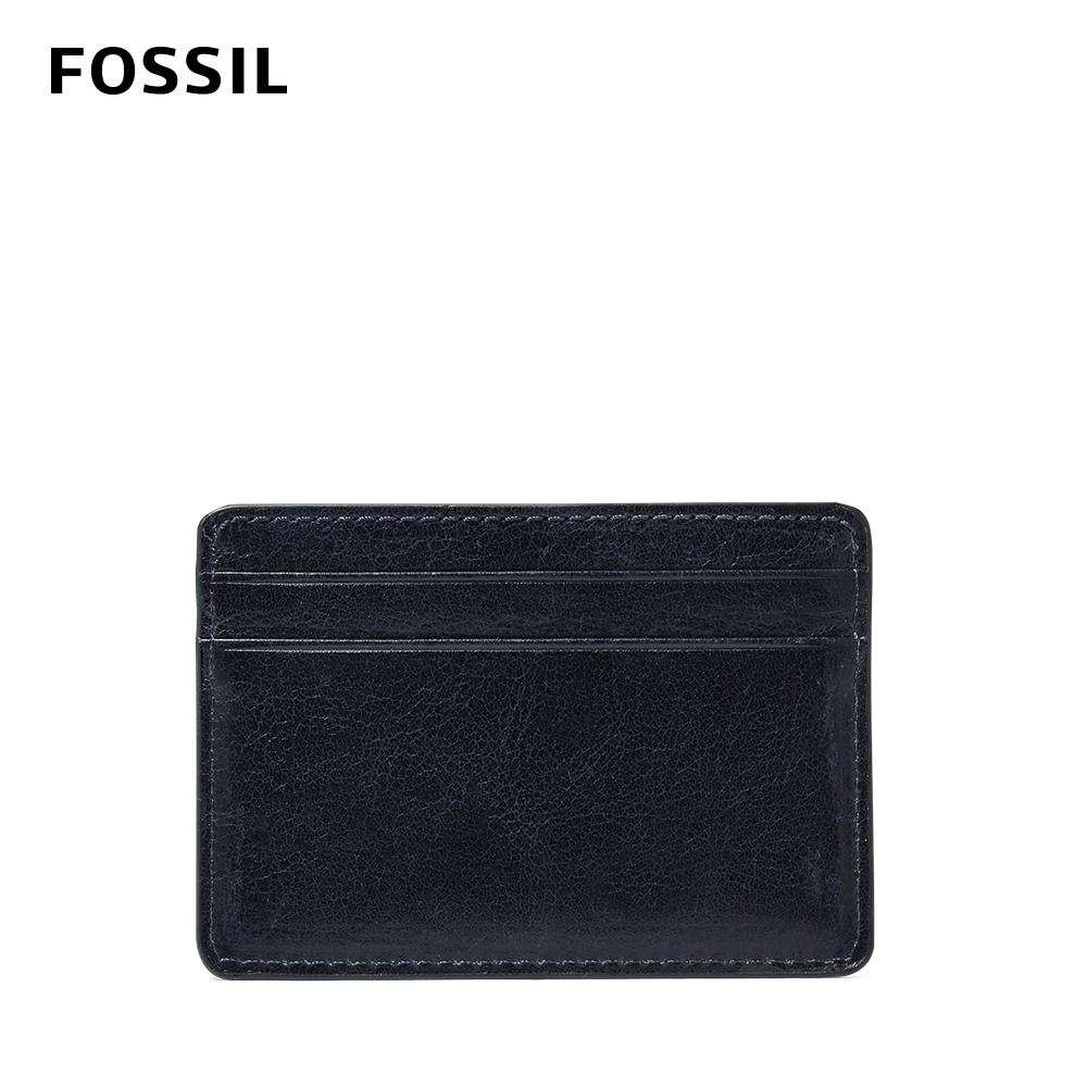 FOSSIL RONNIE 真皮卡夾-海軍藍  ML4149400