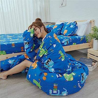 BUHO 雙人加大三件式床包枕套組(Q獸太郎)