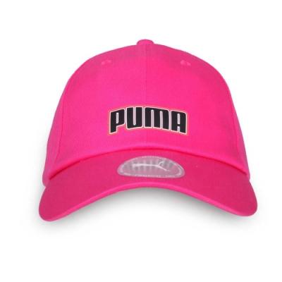 PUMA 基本系列棒球帽 桃紅黑