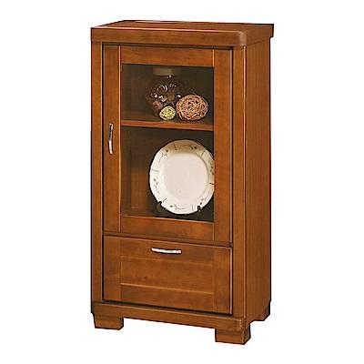 綠活居 摩亞1.9尺實木展示櫃/收納櫃-55.5x42x105cm-免組