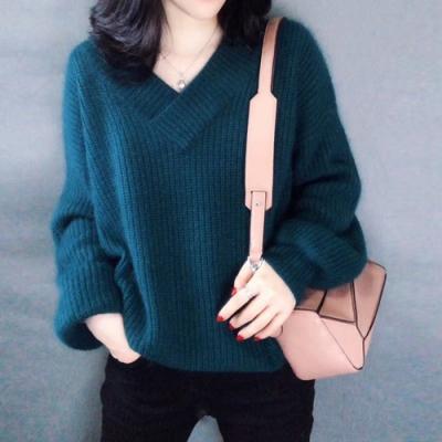 艾米蘭-V領線條造型毛衣-F