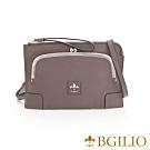 義大利BGilio- 復古牛皮口金包/手拿 側背包 - 灰色 1700.004-19