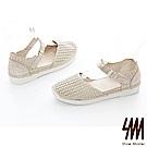 SM-時尚亞麻編織鞋 2色