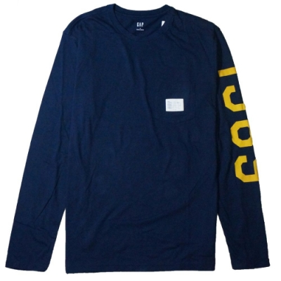 GAP 男生 長袖T恤 藍 1521
