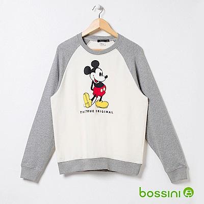 bossini男裝-米奇系列厚棉上衣03乳白