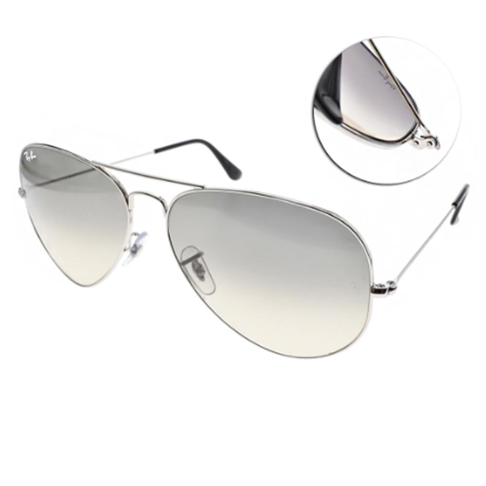 RAY BAN太陽眼鏡 經典飛官/銀-漸層藍#RB3025 00332