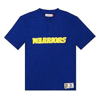 M&N NBA復古半開襟T恤 勇士隊