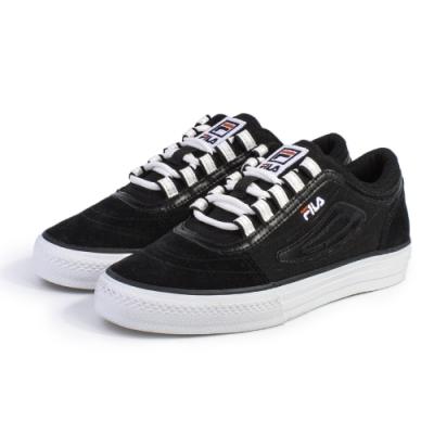 【FILA】CLASSIC BOARDER 休閒鞋 男女款 情侶鞋-黑(4-C331U-001)