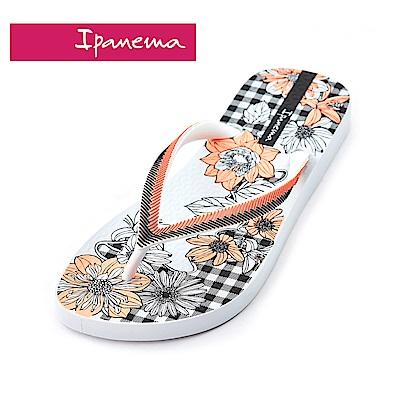 IPANEMA  FASHION系列 印花夾腳拖鞋-白色花朵