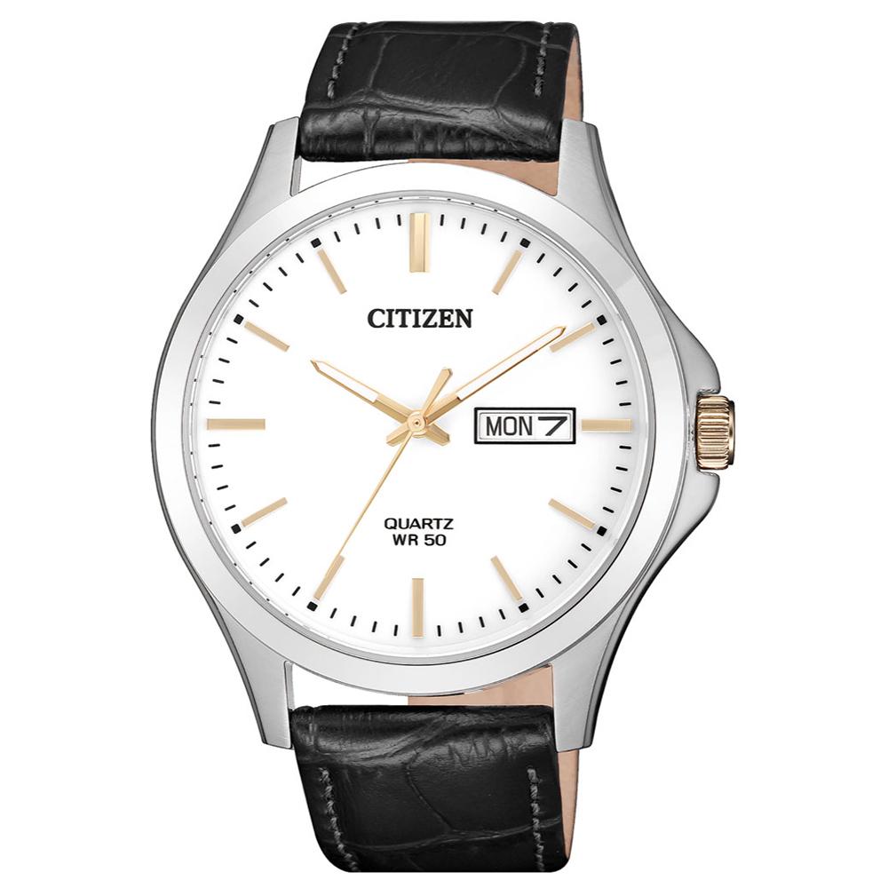 CITIZEN 首席男爵夜光石英腕錶(BF2009-11A)-白x41mm