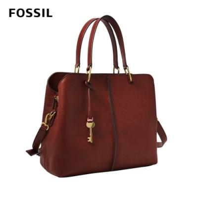 【FOSSIL】Lane 真皮手提肩背包-磚紅色 ZB1322227