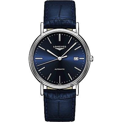 LONGINES浪琴 Presence 經典機械錶-藍/38.5mm