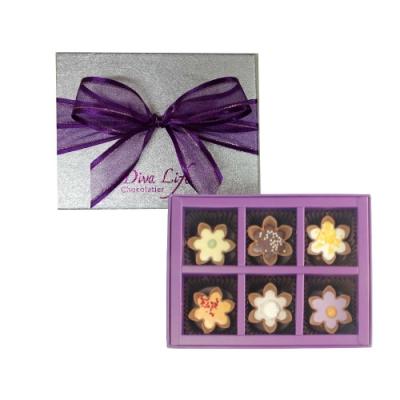 花朵松露巧克力經典禮盒 (6入裝)
