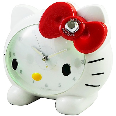 Hello Kitty臉蛋造型音樂貪睡鬧鐘 JM-E890-KT (白色)