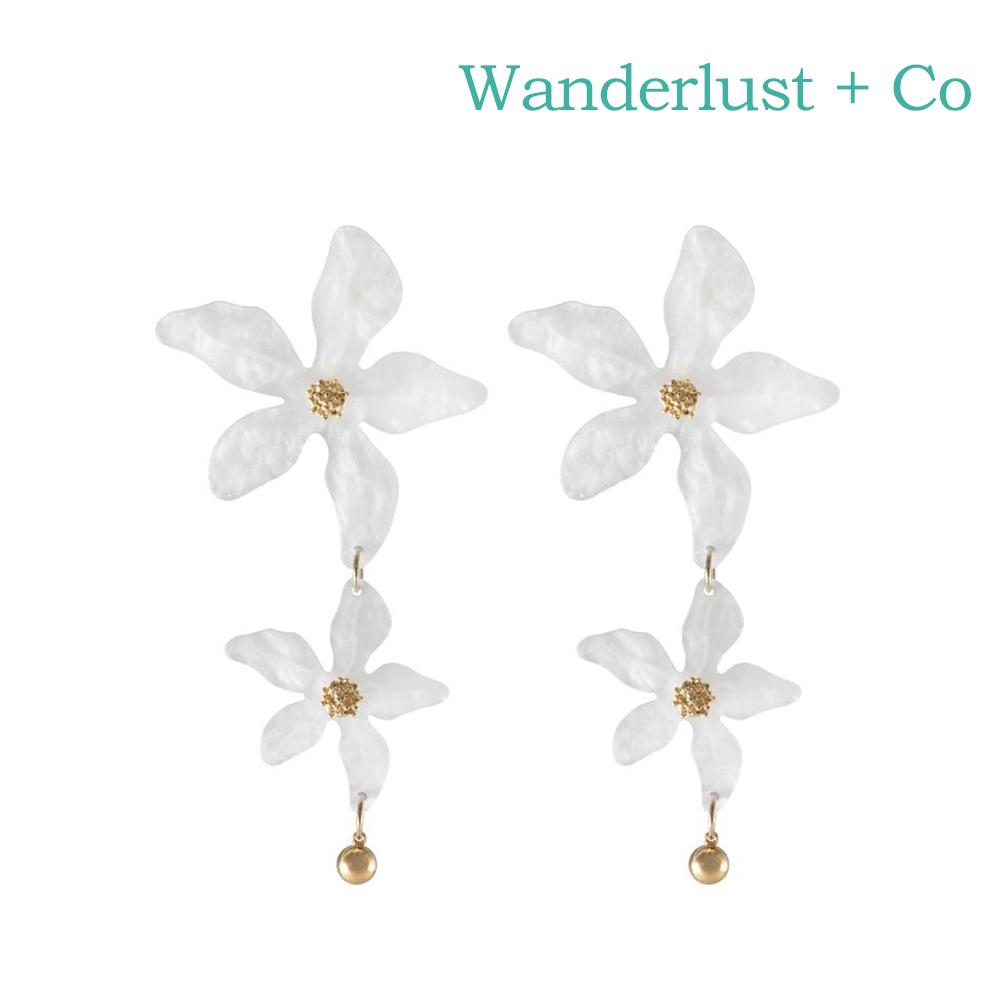Wanderlust+Co 澳洲時尚品牌 LUCIA百合花系列耳環