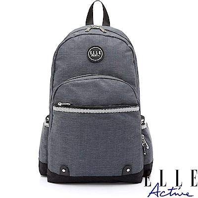 【ELLE Active】優活旅行系列-後背包-大-灰色