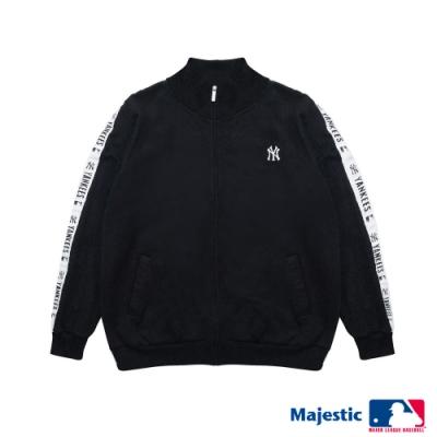 MLB-洋基織帶配色運動外套-白 (男)