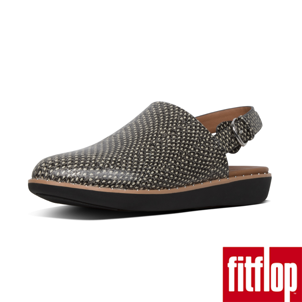 FitFlop SAGE後帶穆勒鞋蛇紋