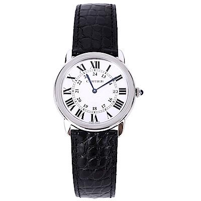 Cartier RONDE SOLO DE W6700255 石英腕錶-黑/36mm