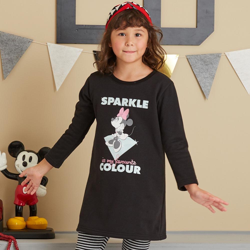 Disney 米妮系列寶石公主刷毛長上衣(共2色)