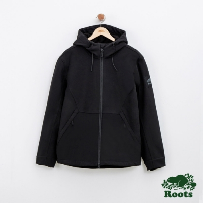 男裝Roots登山者軟殼外套-黑