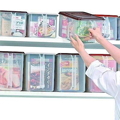 【深淺特惠組】日本INOMATA高位層板專用 手持收納盒(6.3公升+9.5公升)