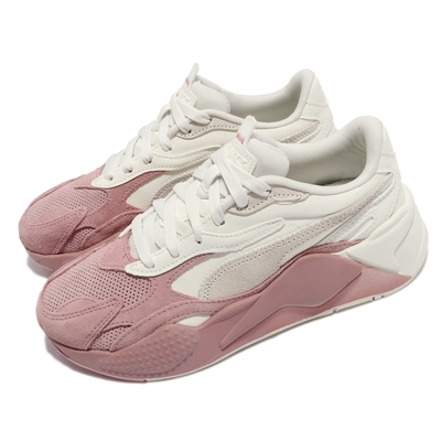 Puma 休閒鞋 RS X3 Colour Block 女鞋 海外限定 麂皮 厚底 老爹鞋 穿搭推薦 米 粉 37395203