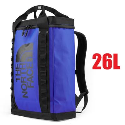 The North Face 大Logo 26L多功能日用減壓雙肩背包/書包_藍黑