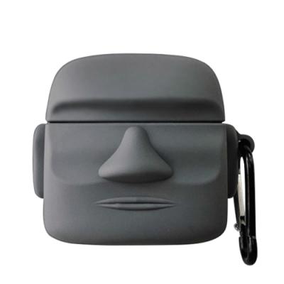 AirPodsPro保護套 可愛俏皮 石像造型 藍牙耳機 保護套 AirPods Pro 保護殼-石像*1