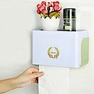 木暉 三合一無痕浴室防水紙巾置物盒(抽取/捲筒兩用) 2入