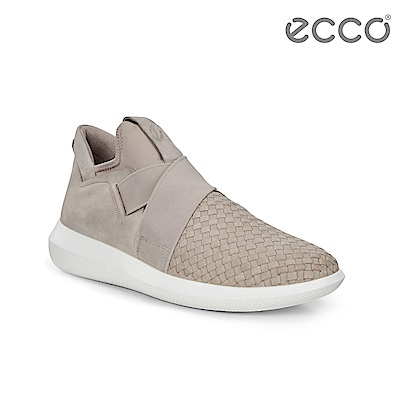 ECCO SCINAPSE M 編織紋套入式休閒運動鞋 男-灰