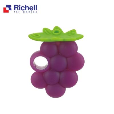 Richell 利其爾 寶寶咬咬系列固齒器 - 葡萄 (附盒)