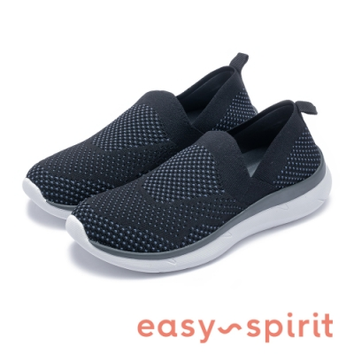 Easy Spirit-seSAVANA2 紡織布面透氣舒適休閒鞋-針織黑